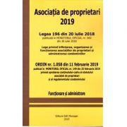 Asociatia de proprietari 2019 ( Legea 196 din 20 IULIE 2018), Ordin nr. 1058 din 11 Februarie 2019 ( Functionare si administrare)