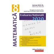 Evaluare Naţională 2020 Matematică - Clasa a VIII-a, ( Avizat M. E. N. )