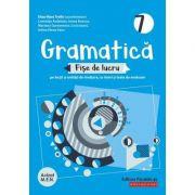 Gramatică 2020 - Fișe de lucru (pe lecții și unități de învățare cu itemi și teste de evaluare) - Clasa a VII-a