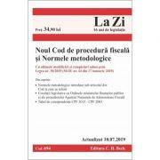 Noul Cod de procedură fiscală și Normele metodologice de aplicare. Cod 694. Actualizat la 10. 07. 2019