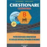 Chestionare 2020 pentru obtinerea permisului auto categoria B. Contine CD, Dan Teodorescu