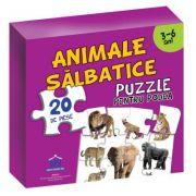 Puzzle pentru podea - Animale salbatice - 3-6 Ani