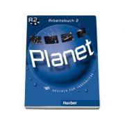 Planet 2, caiet de germana pentru clasa a 6-a, Arbeitsbuch (A2) - Deutsch fur Jugendliche
