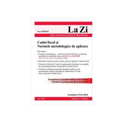 Codul fiscal si Normele metodologice de aplicare (actualizat la 15.01.2010)