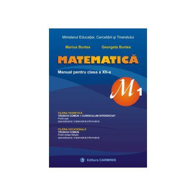 Matematica, M1, manual pentru clasa a XII-a