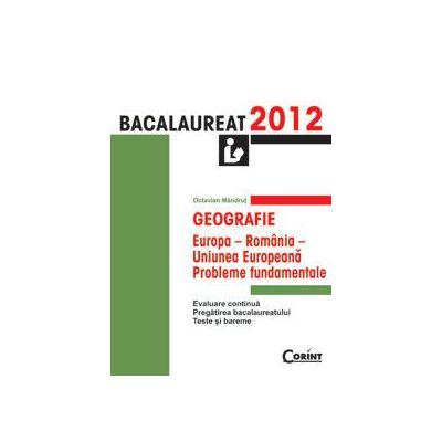 GEOGRAFIE. BACALAUREAT 2012