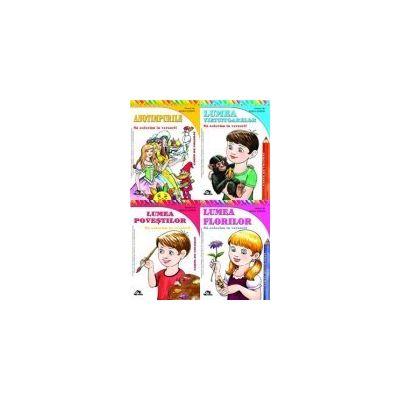 Set 4 carti de colorat