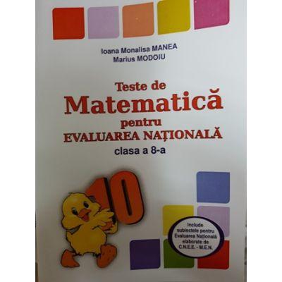Teste De Matematica Pentru Evaluarea Nationala Clasa A 8 A