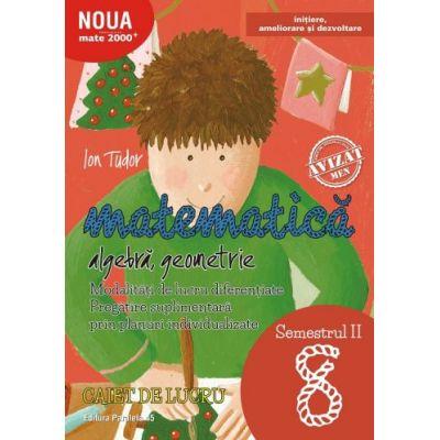 Matematică. Algebră, geometrie. Caiet de lucru. Clasa a VIII-a. Semestrul II. Inițiere - MATE 2000-INIȚIERE - 2018