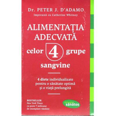 Alimentația adecvată celor 4 grupe sangvine