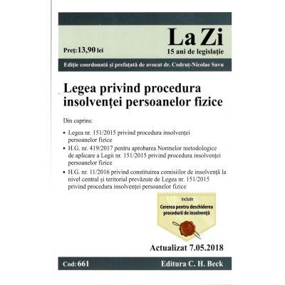 Legea privind procedura insolvenței persoanelor fizice ( 7. 05. 2018)