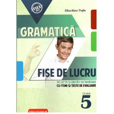 Gramatică. Fișe de lucru (pe lecții și unități de învățare cu itemi și teste de evaluare). Clasa a V-a ( 2018-2019)