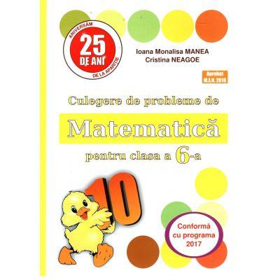 PUISOR 2017 - Culegere de probleme de matematica pentru clasa a VI-a - Conform cu programa 2017-2018