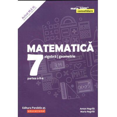Matematica 2019 Consolidare - Algebra, Geometrie - Clasa A VII-A - Semestrul II - Avizat M. E. N.