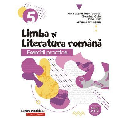 Exerciţii practice de limba şi literatura română 2019 - 2020 - Caiet de lucru - Clasa a V-a