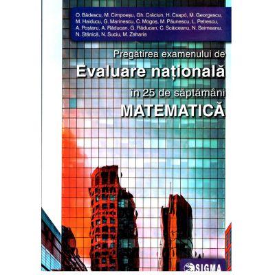 Pregătirea examenului de Evaluare Națională în 25 de săptămâni, Matematica 2020