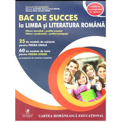 Bac de succes la limba si literatura romana, Profilul umanist. Profilul pedagogic, Emanuela Ilie