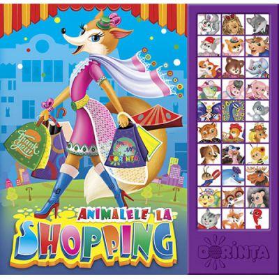 Carte cu sunete, Animalele la Shopping