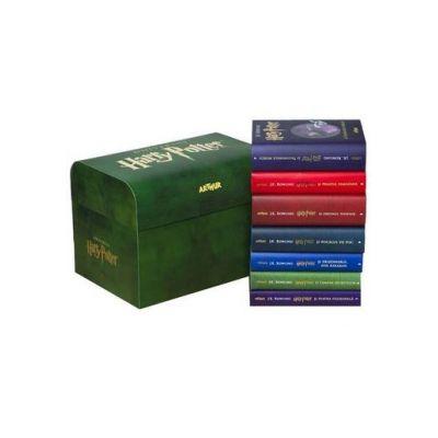 Pachet complet Harry Potter + cufăr de colecție