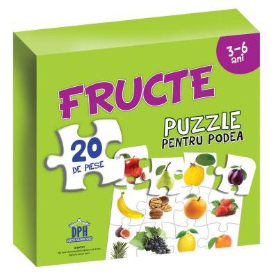 Puzzle pentru podea - Fructe - 3-6 Ani